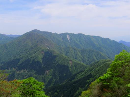 檜洞丸と大室山の稜線