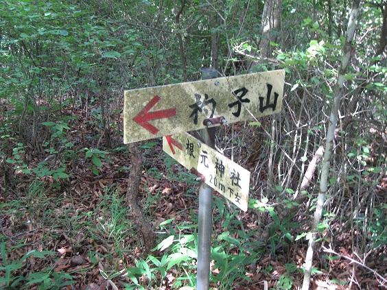 根元神社の分岐