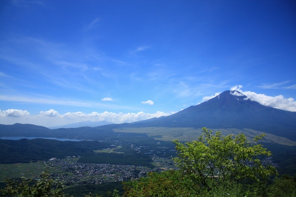 杓子山から富士山景色