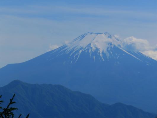 扇山山頂からの富士山の景色