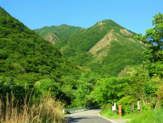 足尾銅山跡と備前盾山