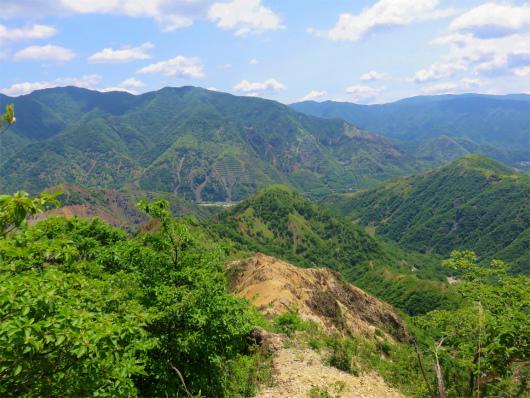 雄大な山の景色