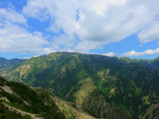 中倉山付近からの景色