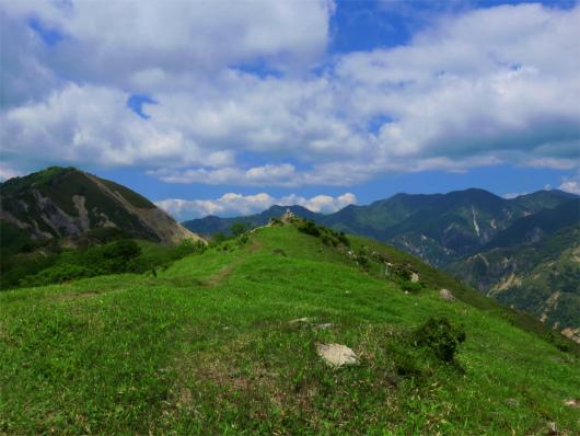 中倉山の山頂登山道