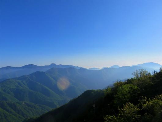 庚申山付近日光のお山