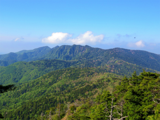 六林班峠方面景色