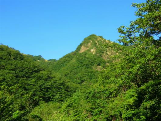 足尾銅山周辺の山々の様子備前盾山