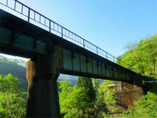 足尾銅山トロッコ列車の線路