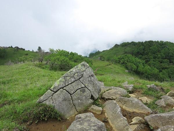 白谷ノ丸亀甲縛りが印象的な岩
