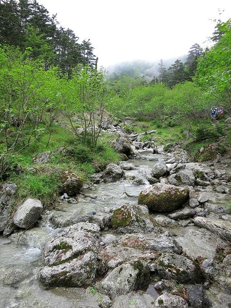 五色滝の上流