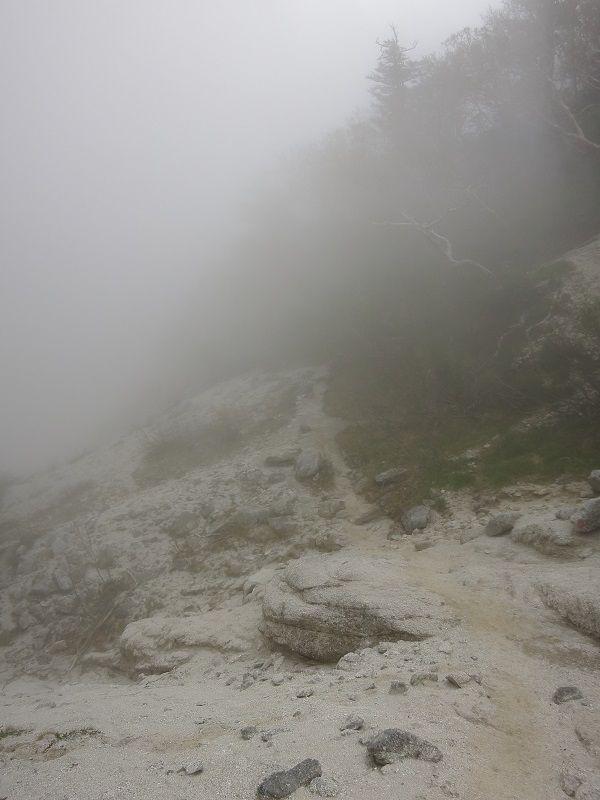 観音岳ガスガス