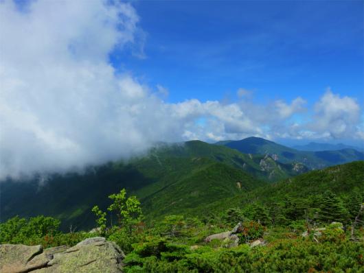 北奥千丈岳からの景色
