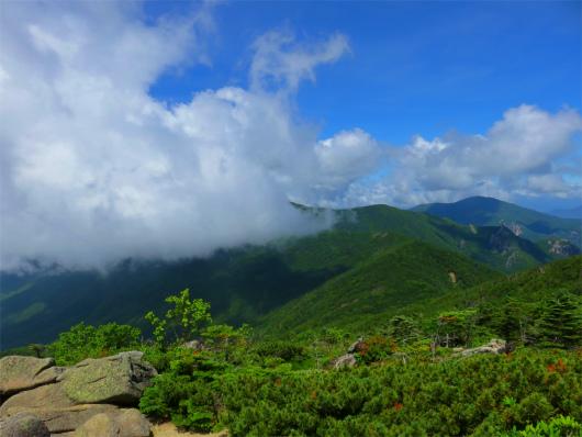 金峰山の登り