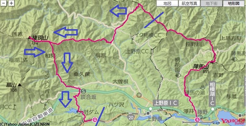 浅間峠~用竹~権現山~JR四方津駅