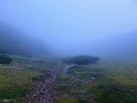 茶臼岳の稜線