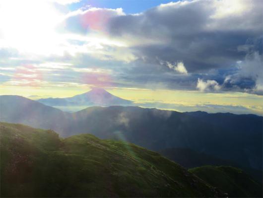 上河内岳から富士山