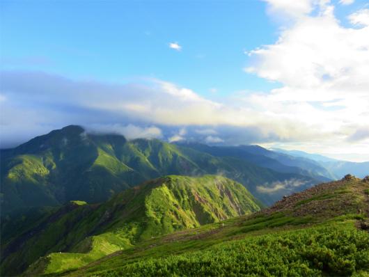 上河内岳から聖岳までアップダウン