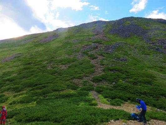 上河内岳山頂の絵