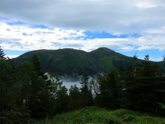 上河内岳・南岳の展望