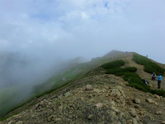 奥聖岳方面