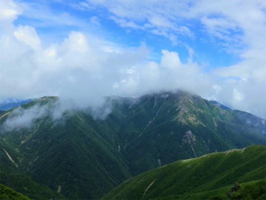 赤石岳がだいぶ見えてた