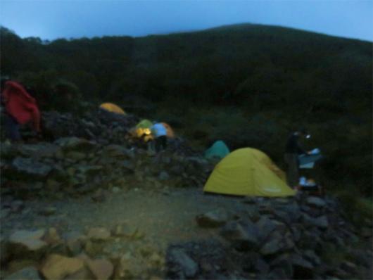 百間洞山の家テント場