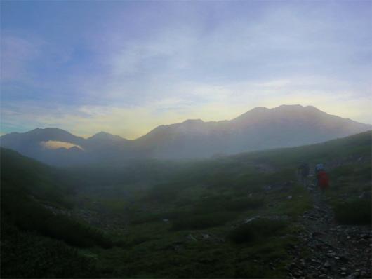赤石岳百間平からの遠望