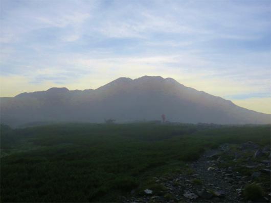 赤石岳の夜明け
