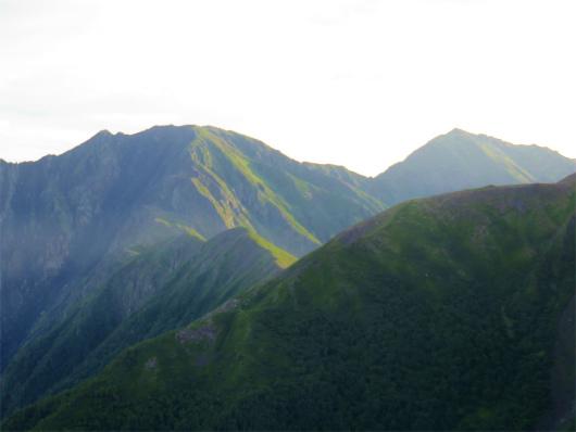 荒川岳の稜線