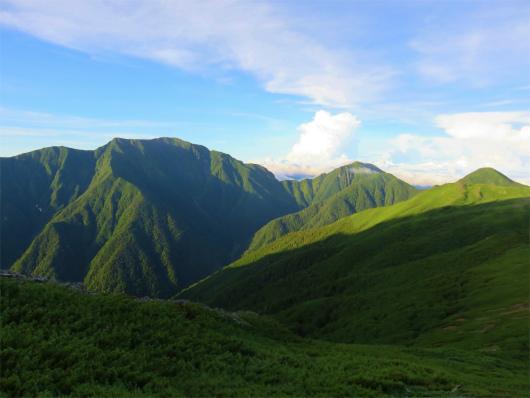 聖岳に兎岳