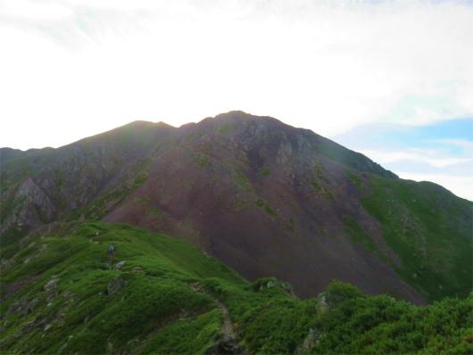 目指す赤石岳