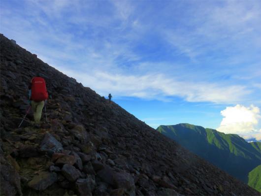 赤石岳の本格的な登り
