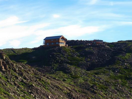 赤石岳の稜線赤石岳避難小屋