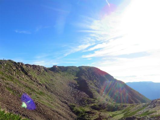 赤石岳の山頂