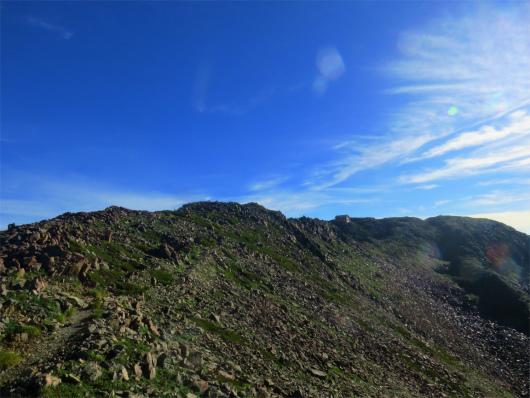 赤石岳の山頂直下