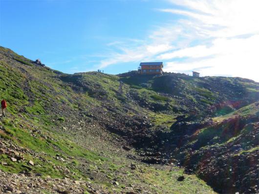 赤石岳と赤石岳避難小屋