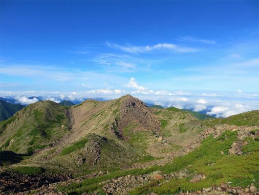 赤石岳避難小屋からの展望