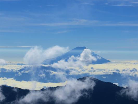 富士山にもモザイクの影