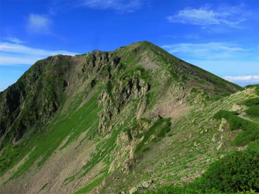 赤石岳山頂アップ