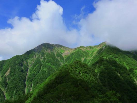 赤石岳見納め