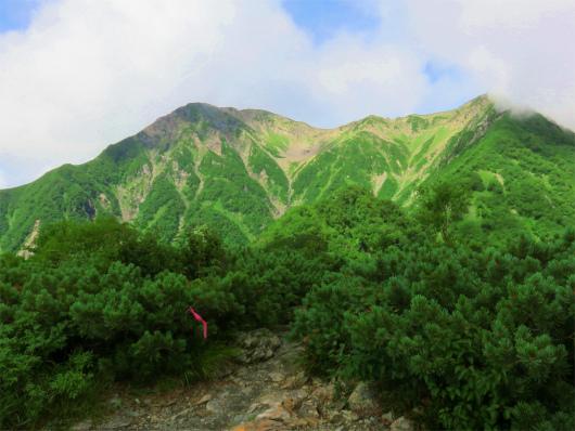 赤石岳(左)と小赤石岳(右)