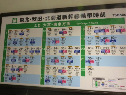 仙台駅新幹線時刻表