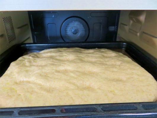 パン生地の発酵が終わった