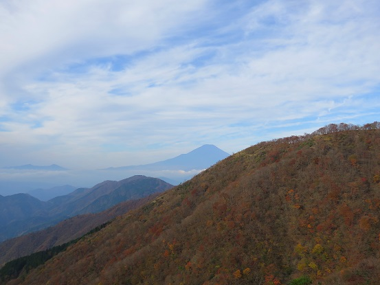 花立山荘から富士山
