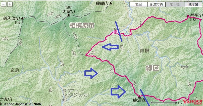 神ノ川ヒュッテ~犬越路避難小屋~檜洞丸の登山ルート