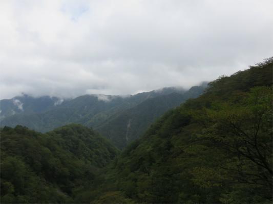 袖平山・風巻ノ頭の稜線