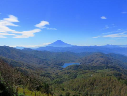 雷岩周辺から富士山