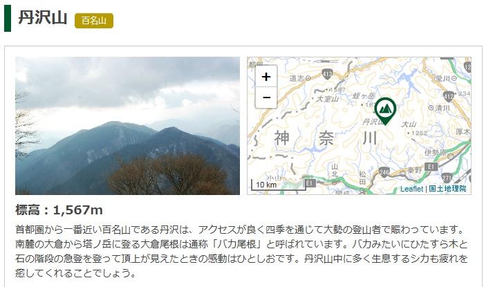 tenki.Jp丹沢山の天気山の写真と国土地理院の地形図がセット