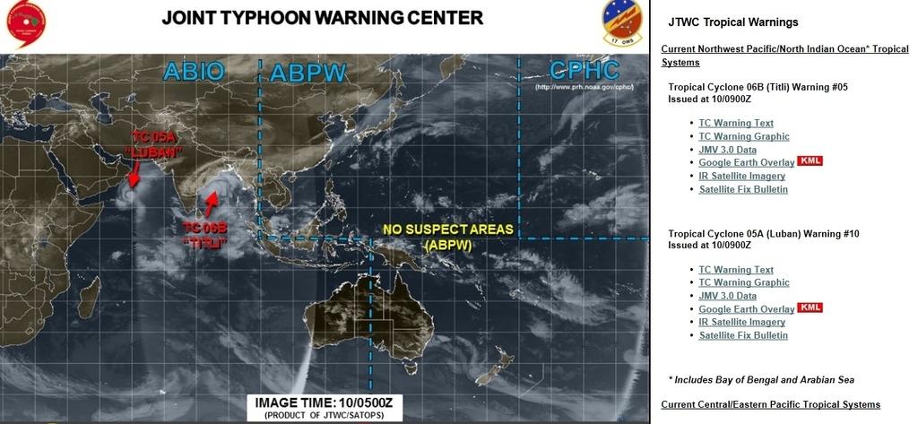 アメリカ・ハワイの米軍合同台風警報センター(JTWC)