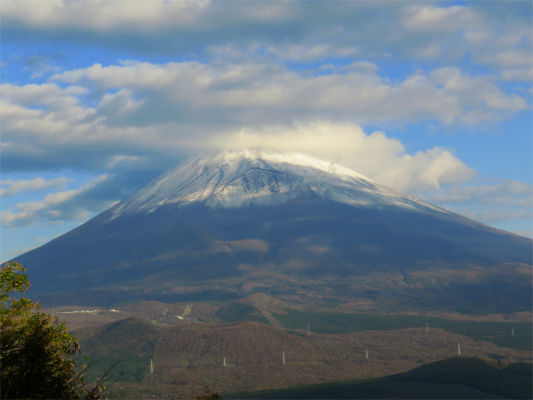 黒岳の山頂からの富士山